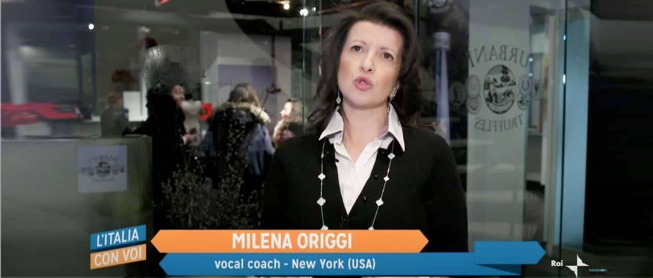 Mylena Vocal Coach intervistata per la RAI
