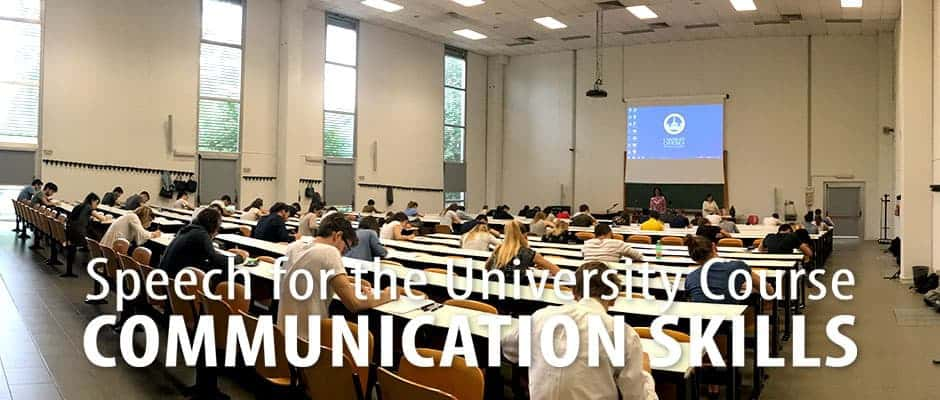 Speech for the Communication Skill Course 2017 at the UCSC