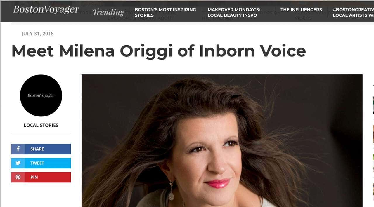 Mylena Vocal Coach Interviewed by Boston Voyager