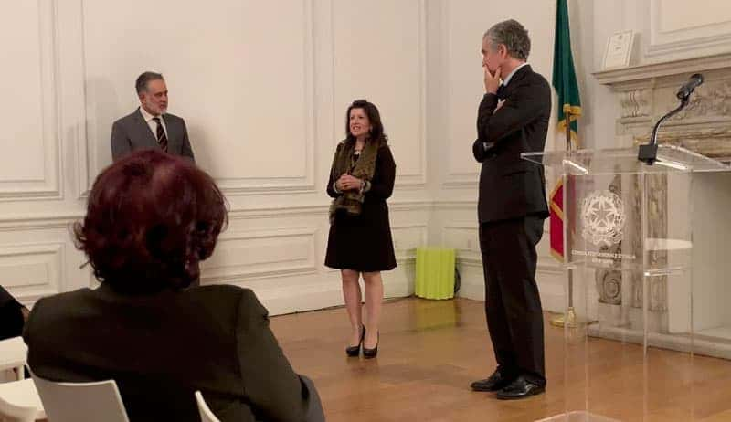 Mylena Vocal Coach speaks at the Consulate General of Italy in New York as Italian Excellence in the World