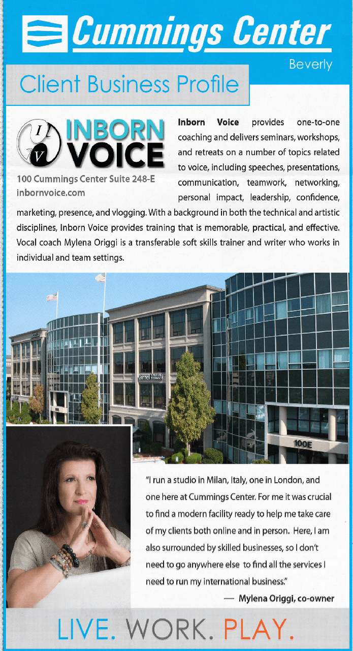 Inborn Voice reviewed by the Cumming Center Client Business Profile